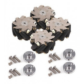 Accessory Kit - 100mm Mecanum Wheels with 4mm Shaft Connector (SPCC)