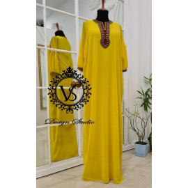 Designer yellow dress from the Holiday collection