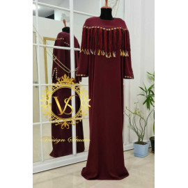 Designer burgundy dress from the Holiday collection