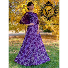 "Lilac designer dress from the collection ""Autumn 2020"""