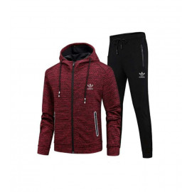 Restime tracksuit black and burgundy