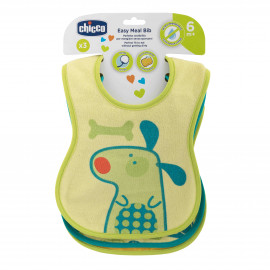 Chicco Easy Meal cotton bib 6m+ (3 pc)