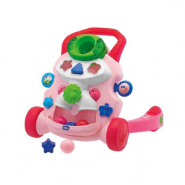 Chicco Baby Walker 2 in 1 musical toy (9-24m) - pink