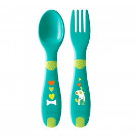 Chicco FirstCutlery set 12m+ (spoon and fork), plastic