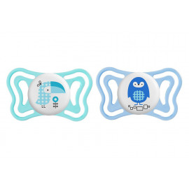 Chicco Physio Forma Light silicone soother (2-6m) blue - 2 pack