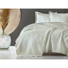 Bedspread Cotton box Terra mint