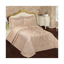 Bedspread with pillowcases Meyra Dantel, Gri Alara